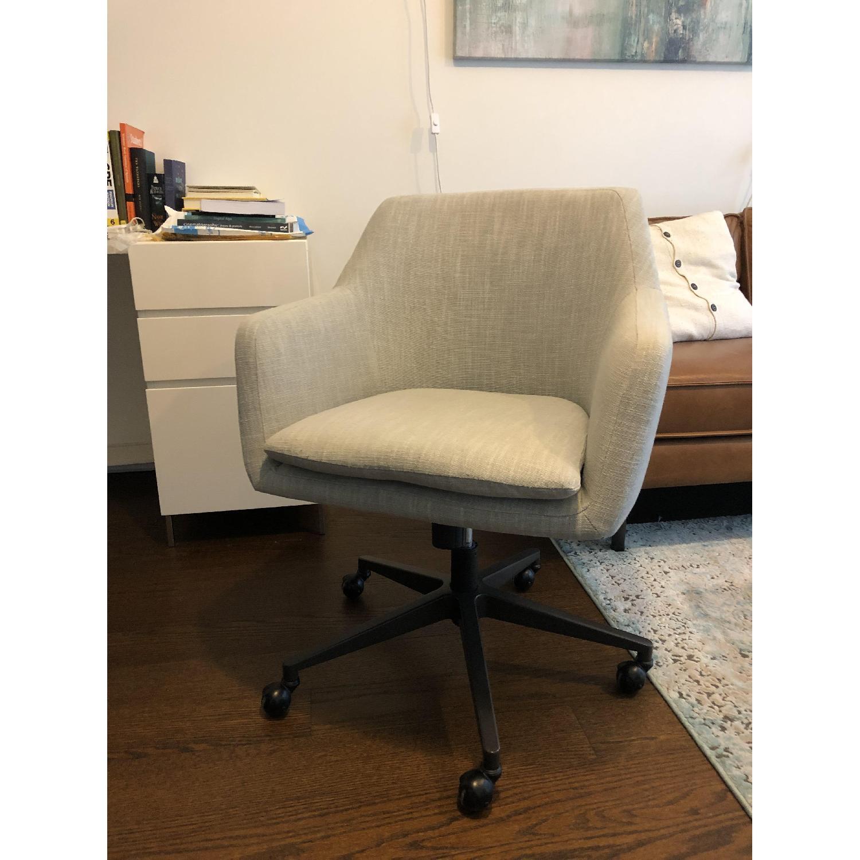 West Elm Helvetica Swivel Desk Chair - image-3