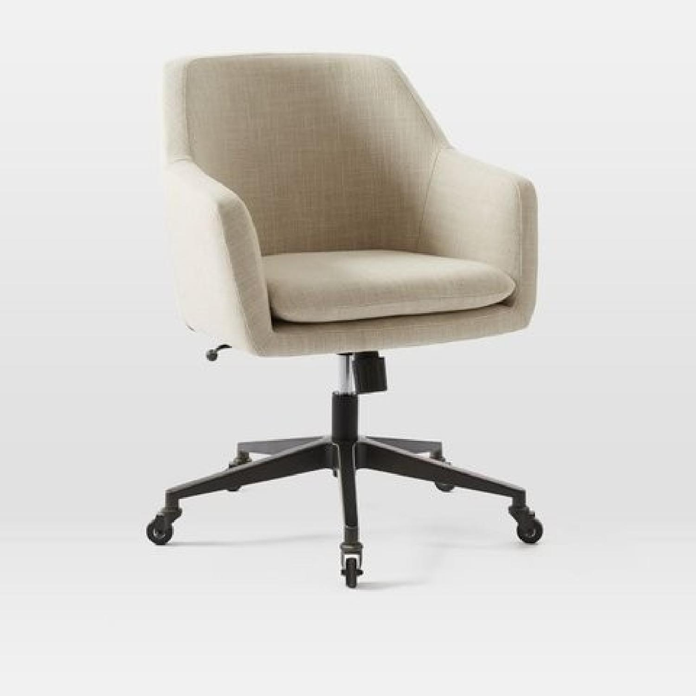 West Elm Helvetica Swivel Desk Chair - image-4