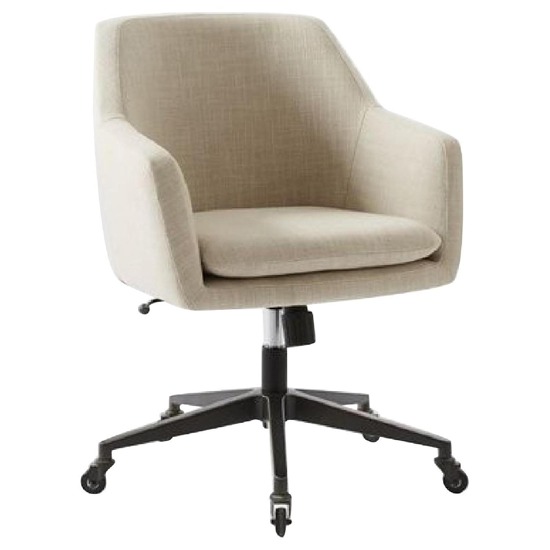 West Elm Helvetica Swivel Desk Chair - image-0