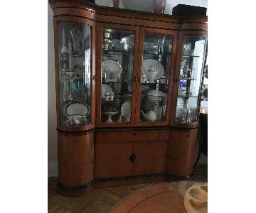 National Mt. Airy Art Deco Style China Cabinet