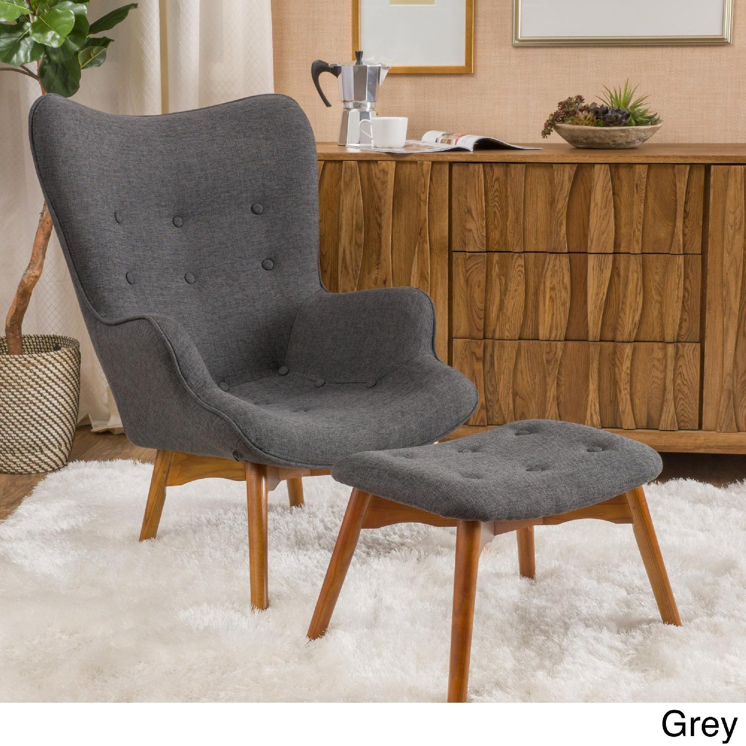 Christopher Knight Hariata Accent Chair & Ottoman - image-1
