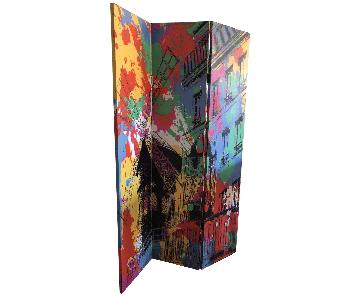 Moulin Rouge and Eiffel Tower Themed Room Divider