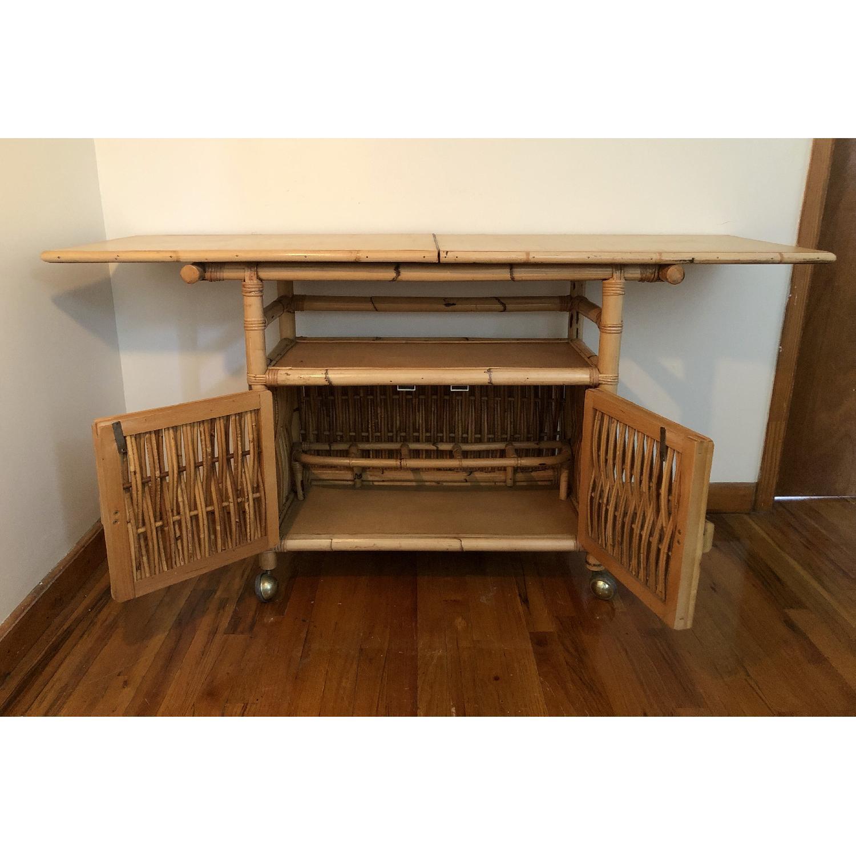 Polynesian Antique Oak & Bamboo Convertible Media Cabinet - image-2