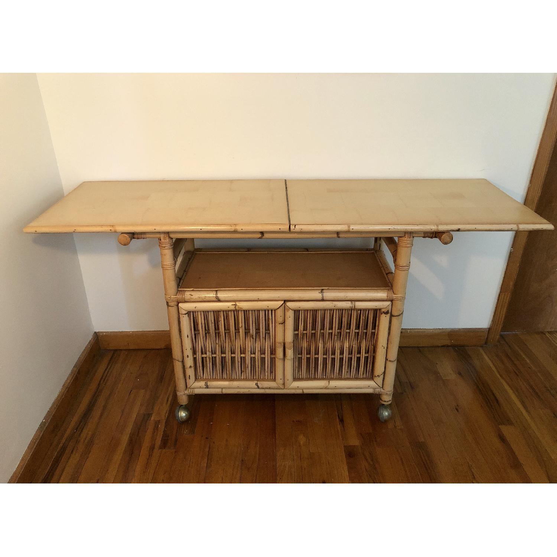 Polynesian Antique Oak & Bamboo Convertible Media Cabinet - image-3