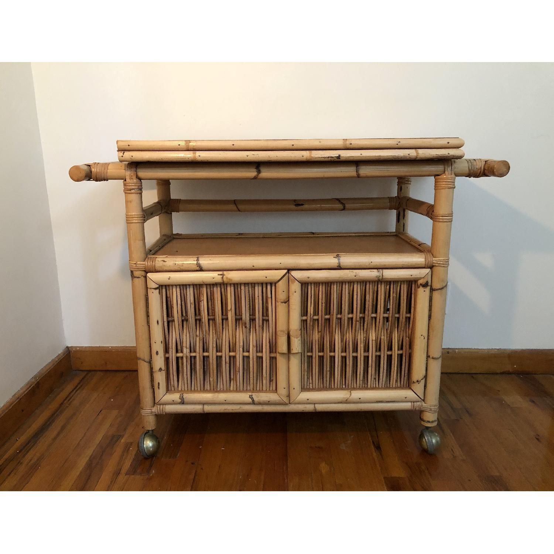 Polynesian Antique Oak & Bamboo Convertible Media Cabinet - image-4