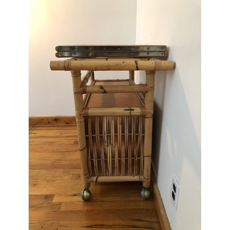 Polynesian Antique Oak & Bamboo Convertible Media Cabinet - image-5