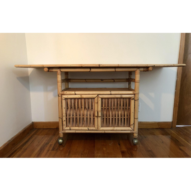 Polynesian Antique Oak & Bamboo Convertible Media Cabinet - image-6