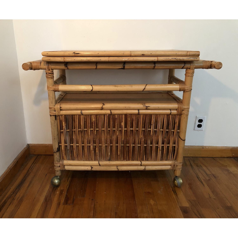 Polynesian Antique Oak & Bamboo Convertible Media Cabinet - image-7