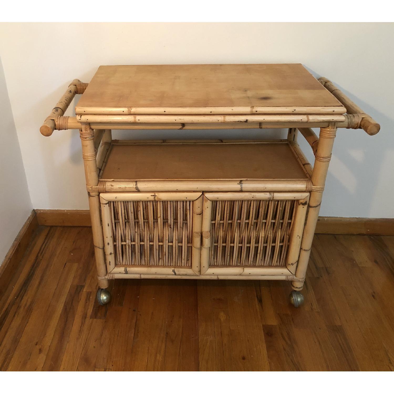 Polynesian Antique Oak & Bamboo Convertible Media Cabinet - image-8