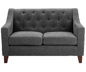 Target Grey Tufted Loveseat