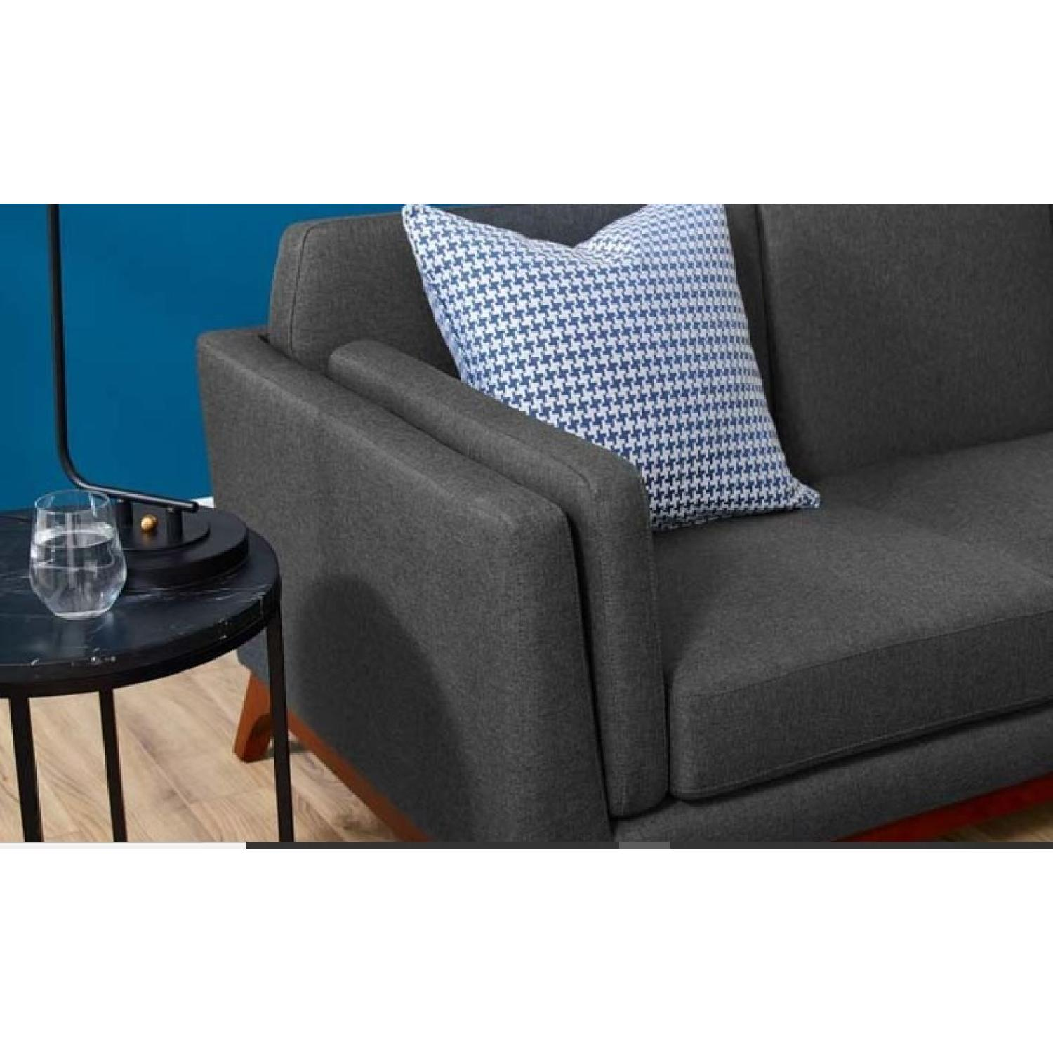 Grey Upholstered Fabric Sofa-1