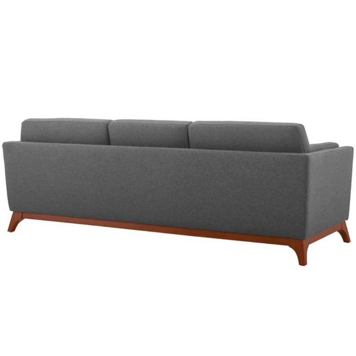 Grey Upholstered Fabric Sofa-2