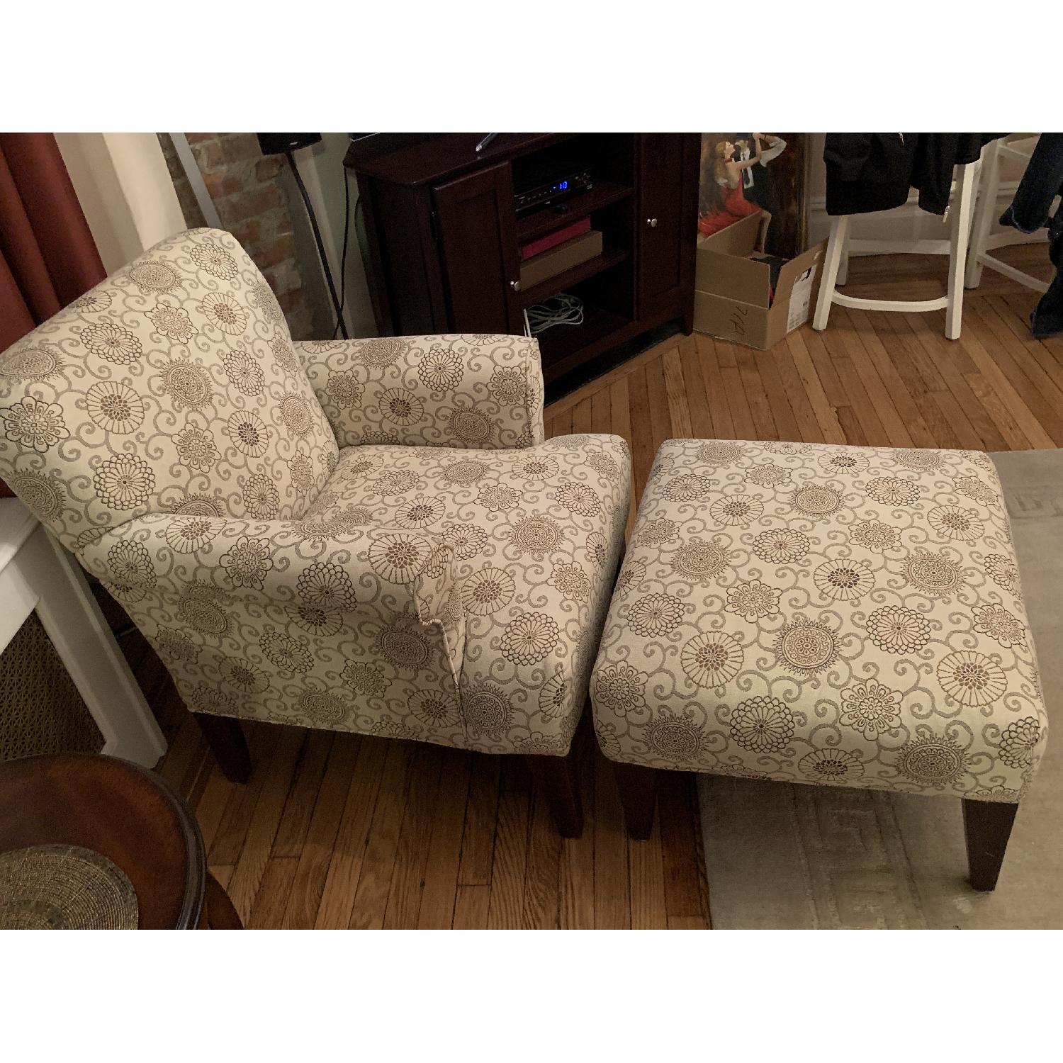 Raymour & Flanigan Accent Chair & Ottoman - image-2