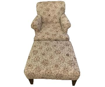 Raymour & Flanigan Accent Chair & Ottoman
