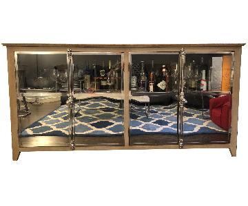 Rumrunner Home Reclaimed Wood Glass & Brass Buffet