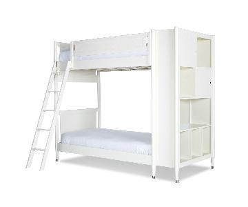 DwellStudio Mid-Century Library Bunk Bed in White
