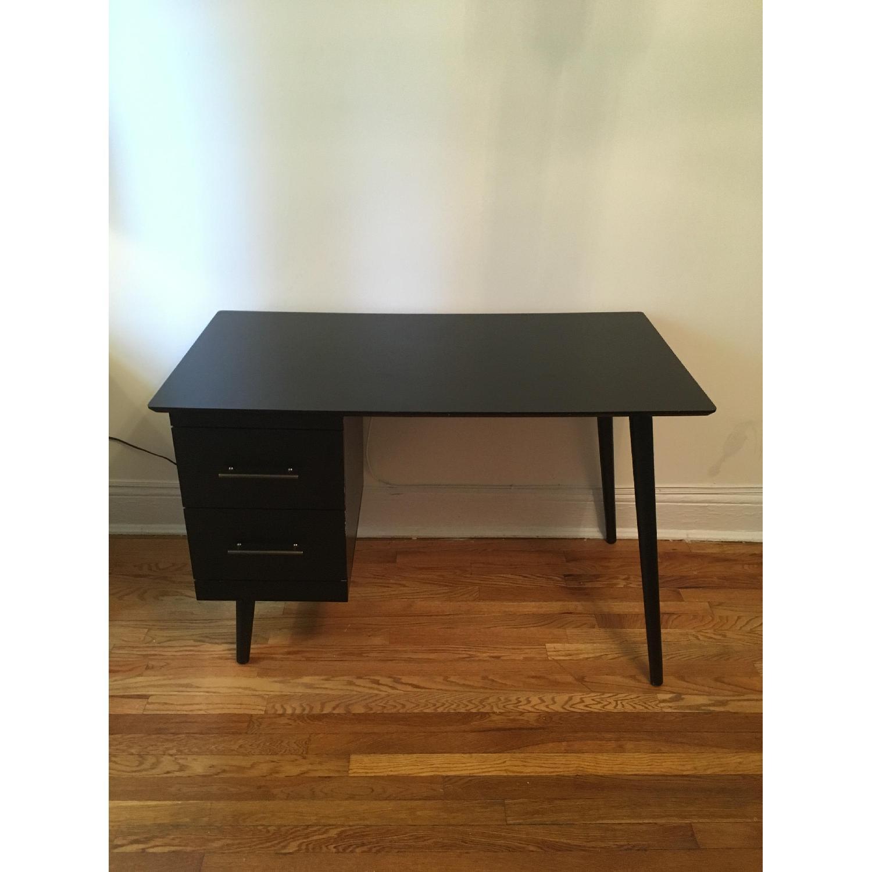 Target Leon Mid-Century Style Dark Walnut Desk-0