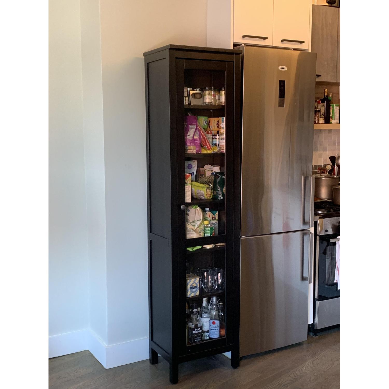 Ikea Hemnes One Door Glass Door Cabinet - image-1