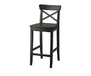 Ikea Ingolf Bar Stools w/ Backrest