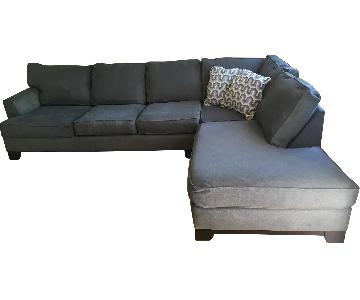 Pilgrimage Blue 2-Piece Sectional Couch