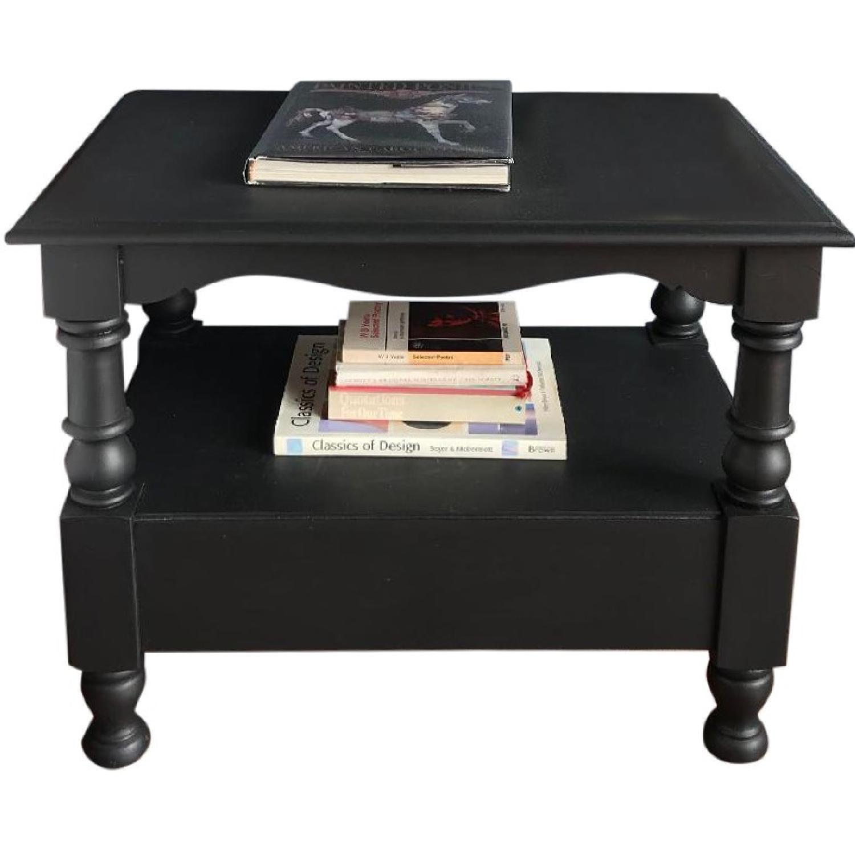 Vintage Wood Black Occasional Tables/Nightstands