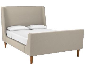 West Elm Full Upholstered Sleigh Bed