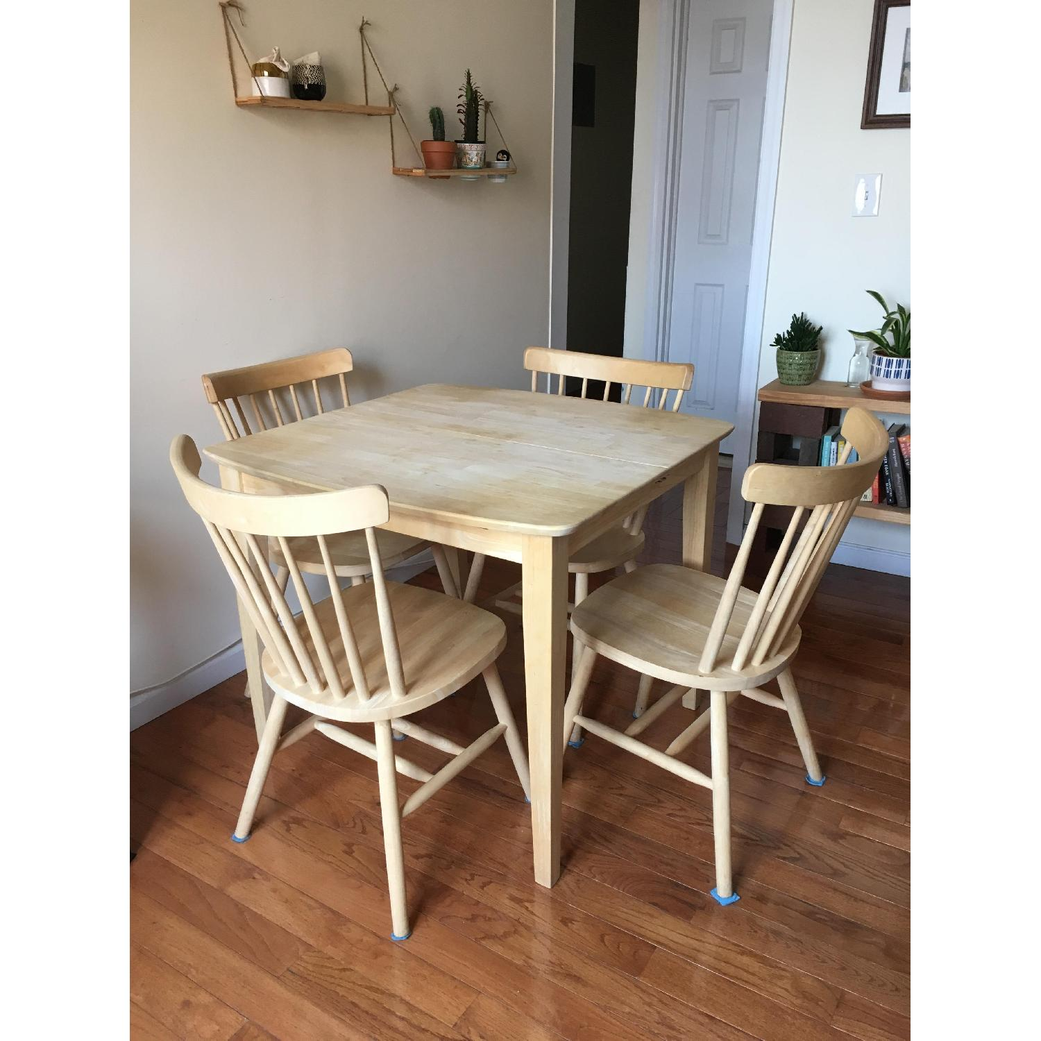 International Concepts Unfinished Wood Table w/ 4 Chairs - image-1