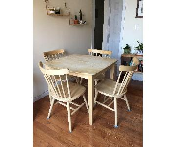 International Concepts Unfinished Wood Table w/ 4 Chairs