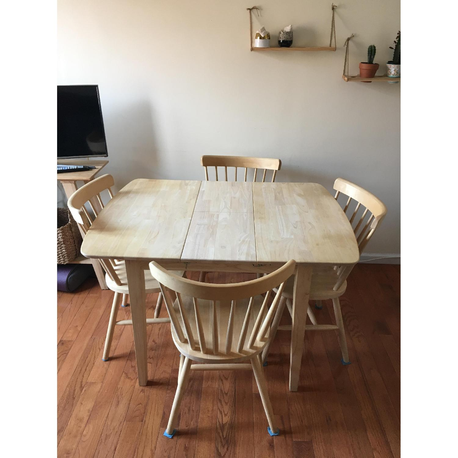 International Concepts Unfinished Wood Table w/ 4 Chairs - image-2