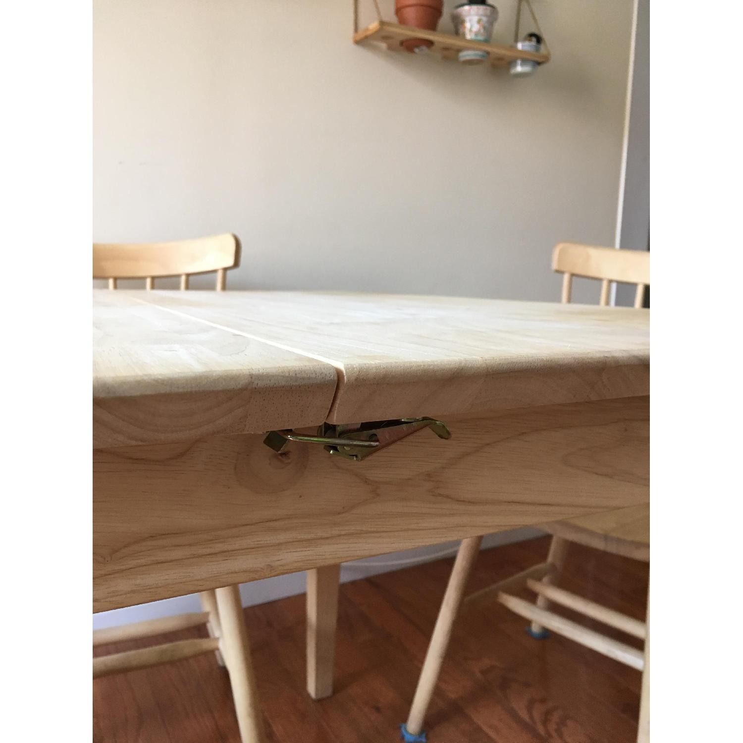 International Concepts Unfinished Wood Table w/ 4 Chairs - image-4