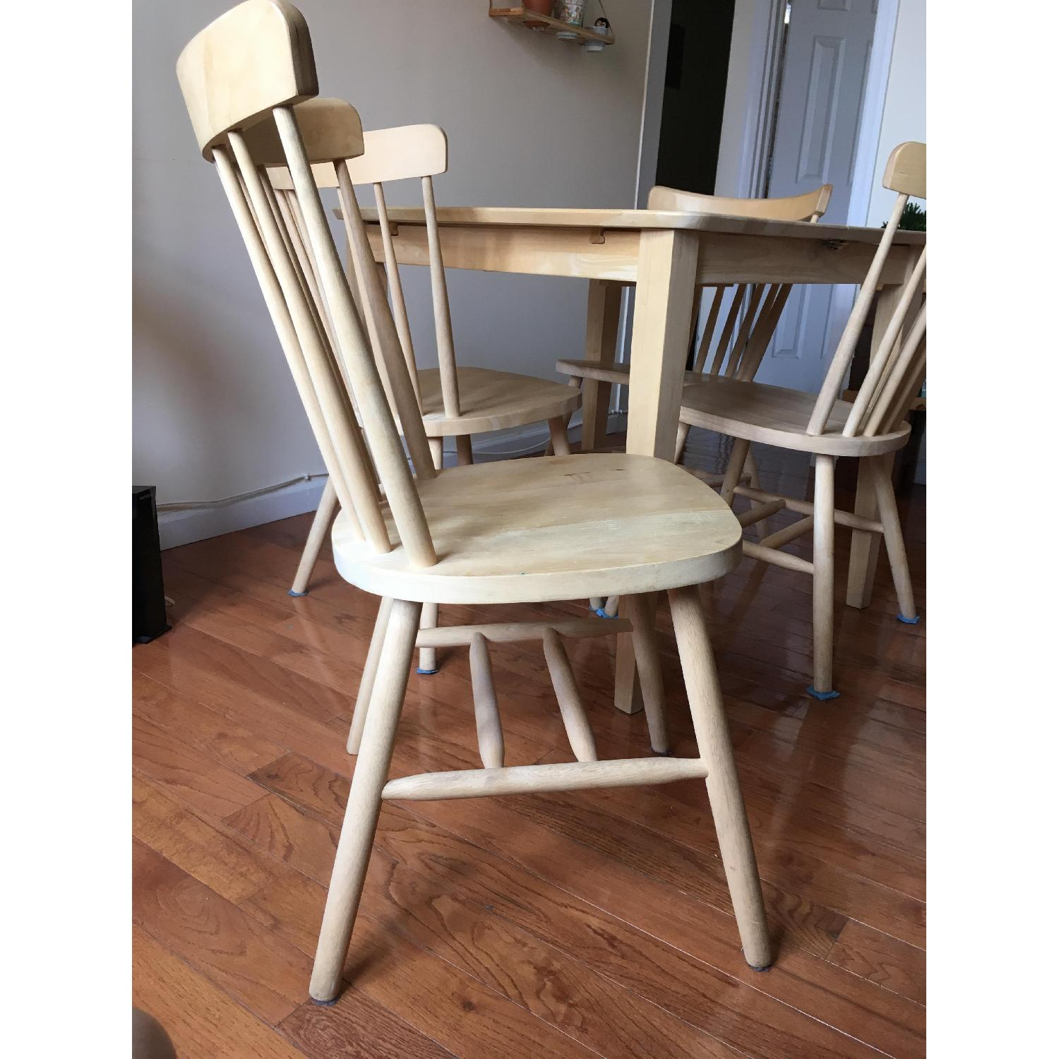 International Concepts Unfinished Wood Table w/ 4 Chairs - image-6