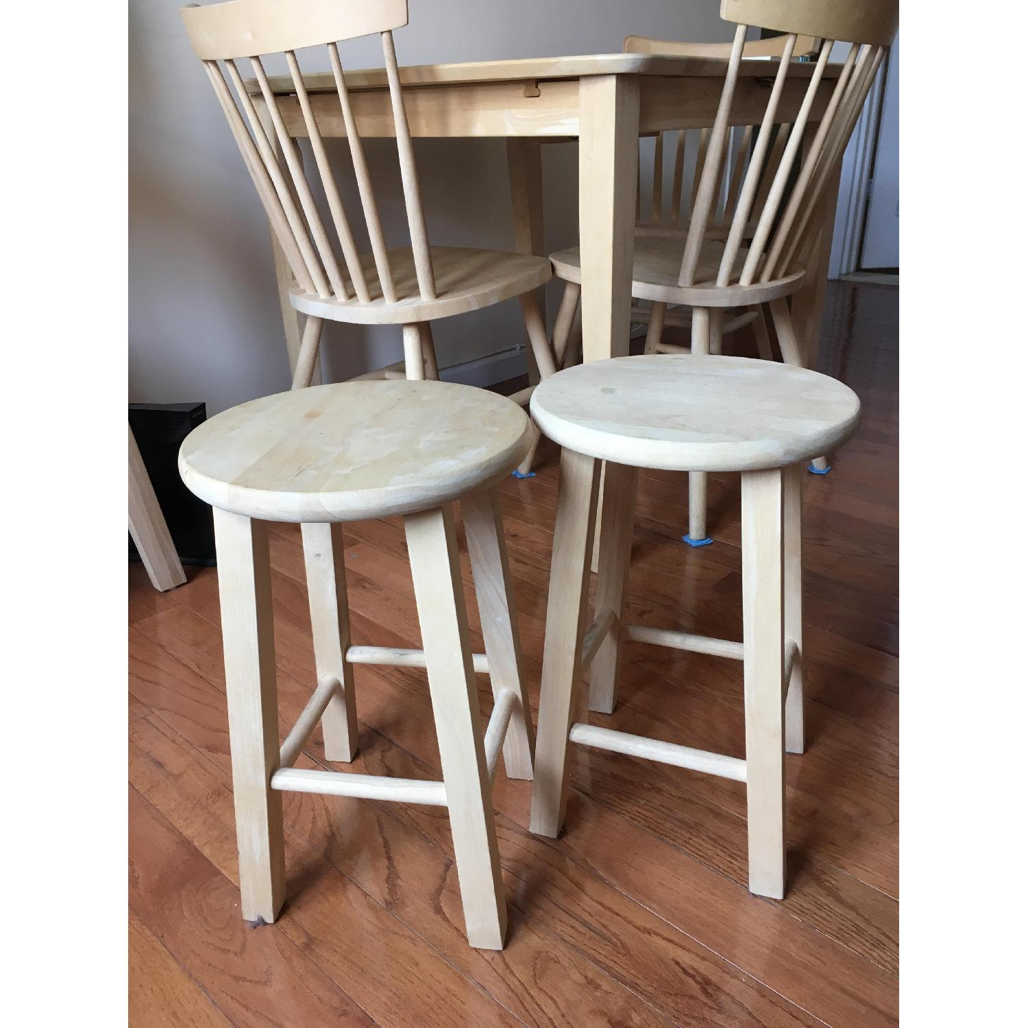 International Concepts Unfinished Wood Table w/ 4 Chairs - image-7
