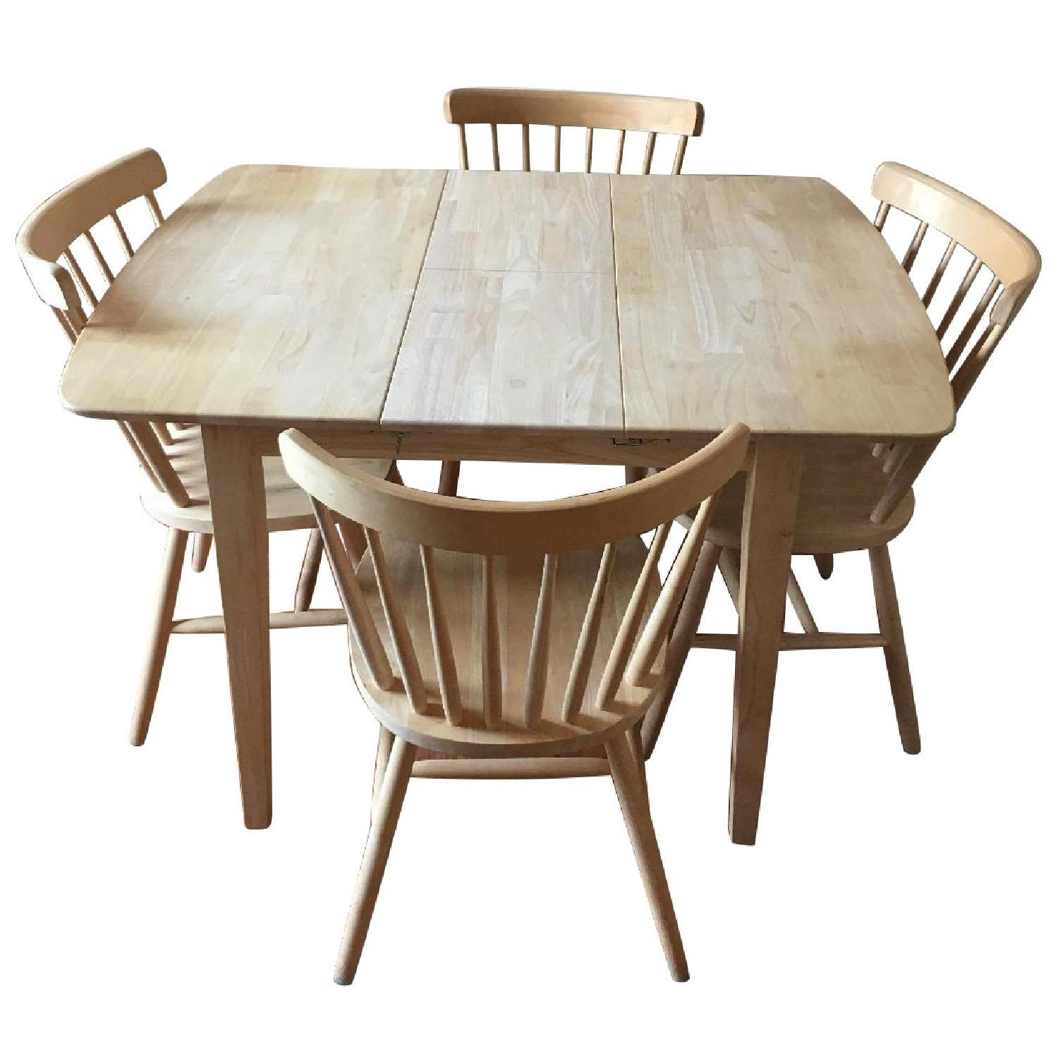 International Concepts Unfinished Wood Table w/ 4 Chairs - image-0