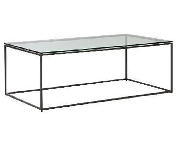 West Elm Streamline Glass Coffee Table