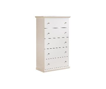 Ashley White Tall 5 Drawer Dresser