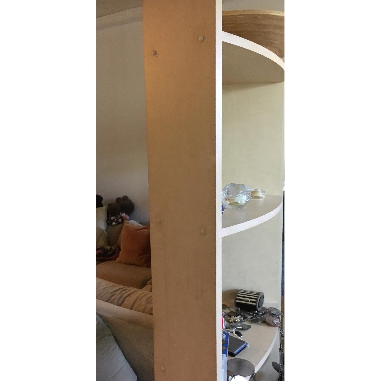 Crate & Barrel Arc Shelves/Room Divider-1