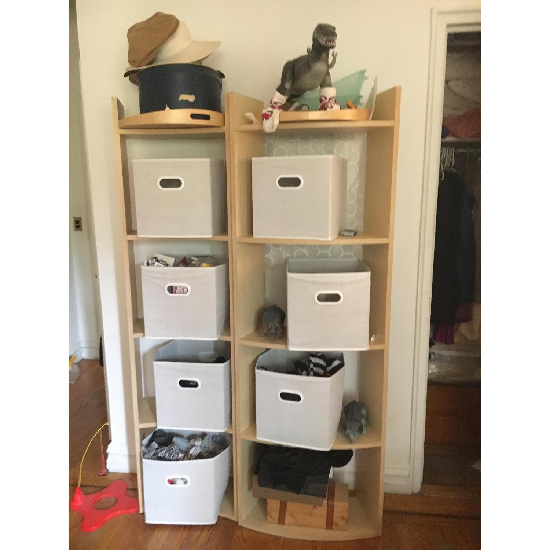 Crate & Barrel Arc Shelves/Room Divider-2