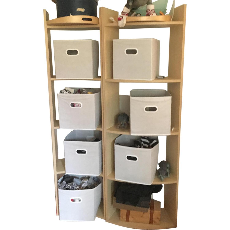 Crate & Barrel Arc Shelves/Room Divider