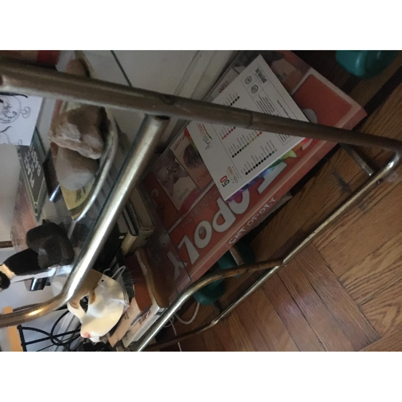 Vintage Gold Metal & Glass Shelf-3