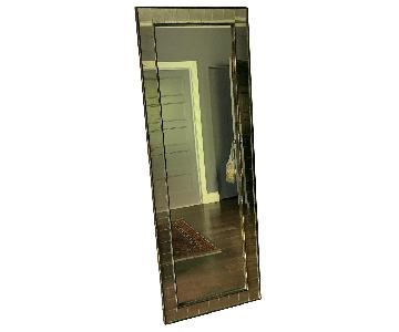 West Elm Floor Mirror w/ Antique Glass Tile Frame