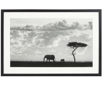 World Market Elephant Framed Art Print