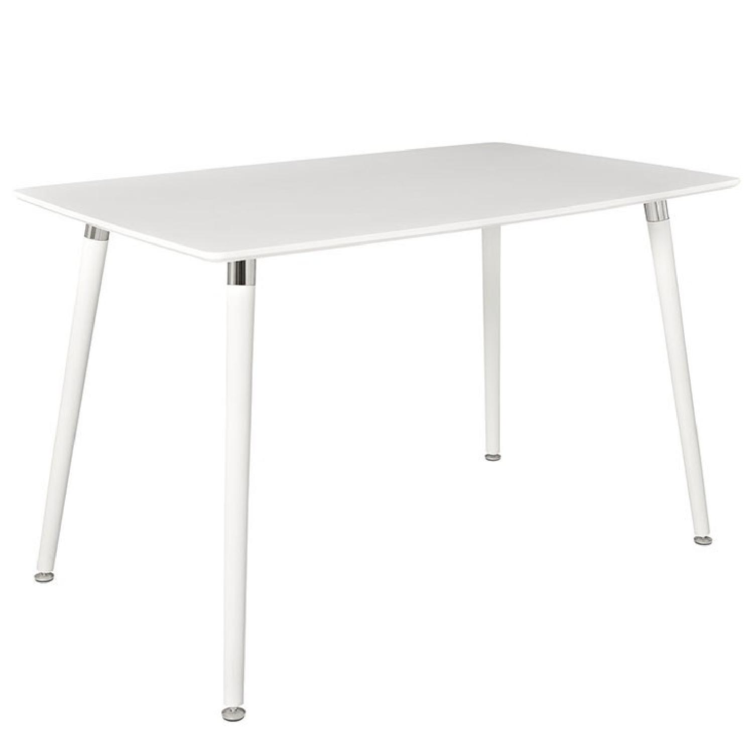 White Wood Dining Table - image-0