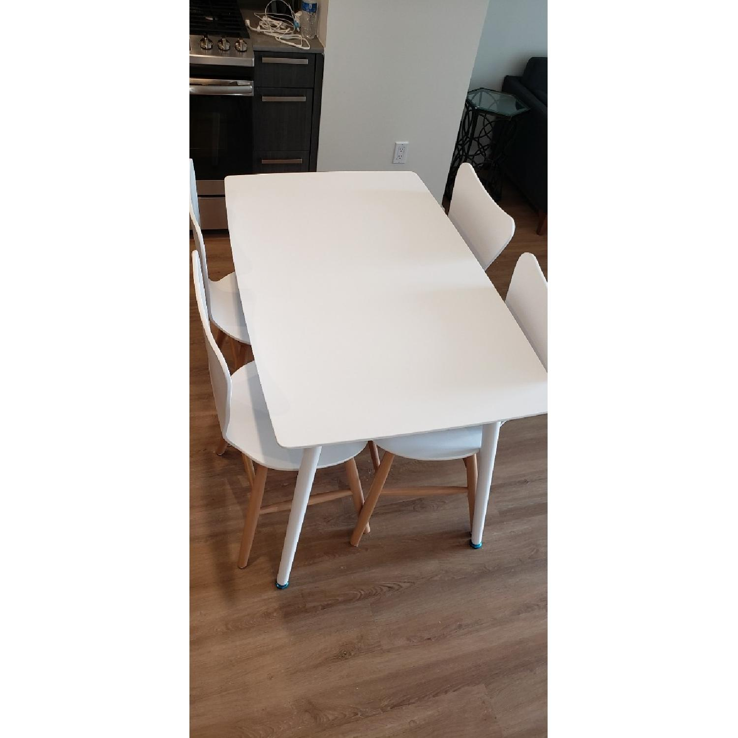White Wood Dining Table - image-3