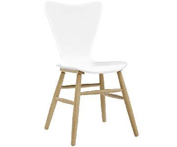 White Mid Century Modern Chairs