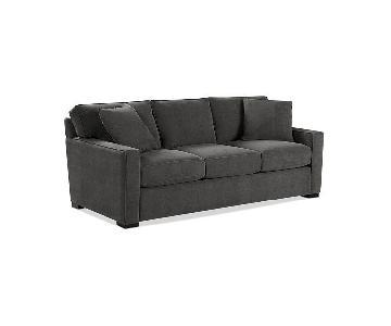 "Macy's 86"" Radley Fabric Sofa & Ottoman"