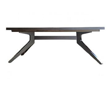 Design Within Reach Cross Extension Table in Coffee Bean