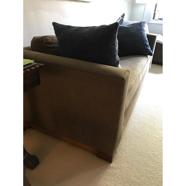 Crate & Barrel Brown Fabric Sofa - image-2