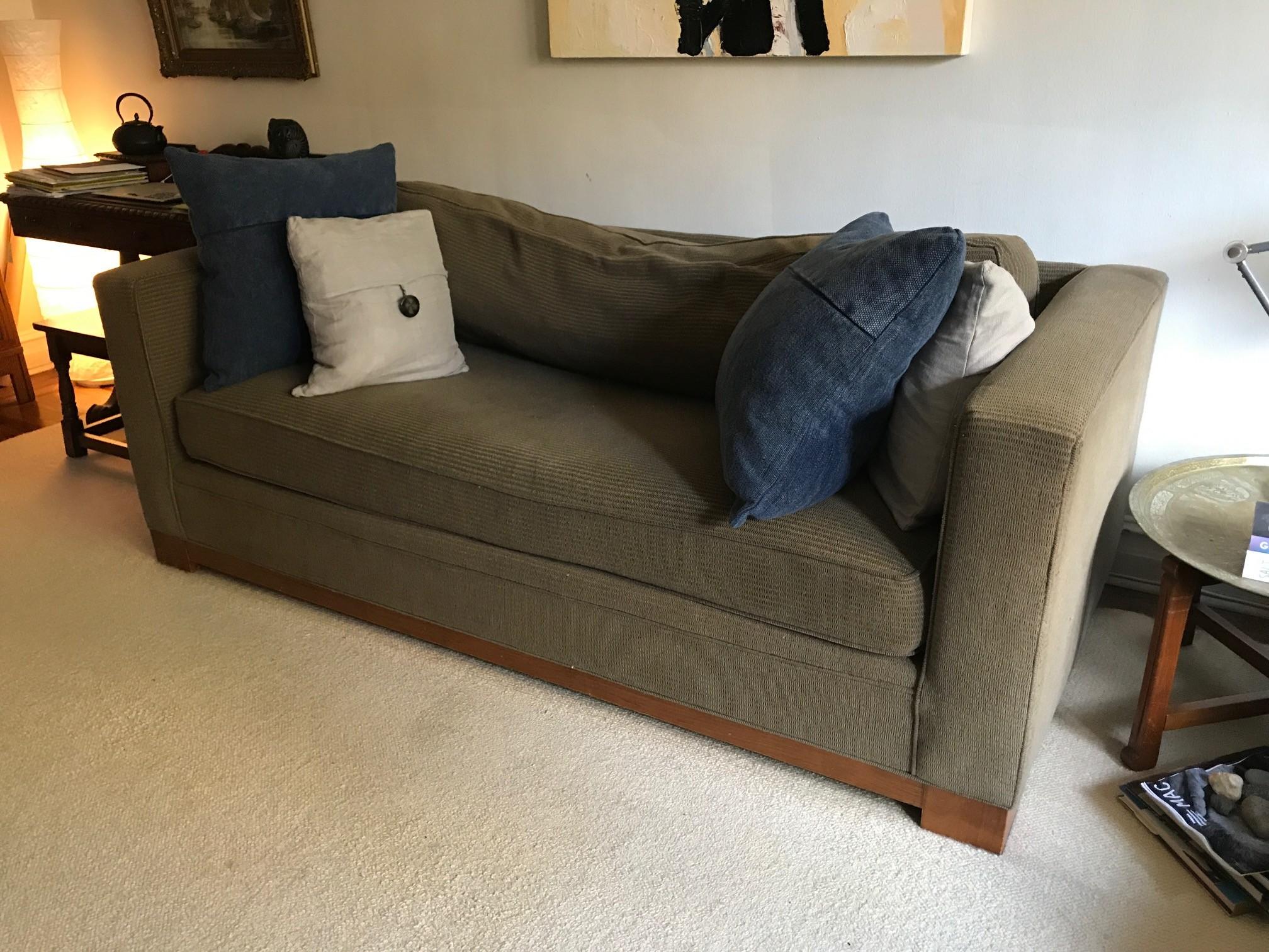 Crate & Barrel Brown Fabric Sofa