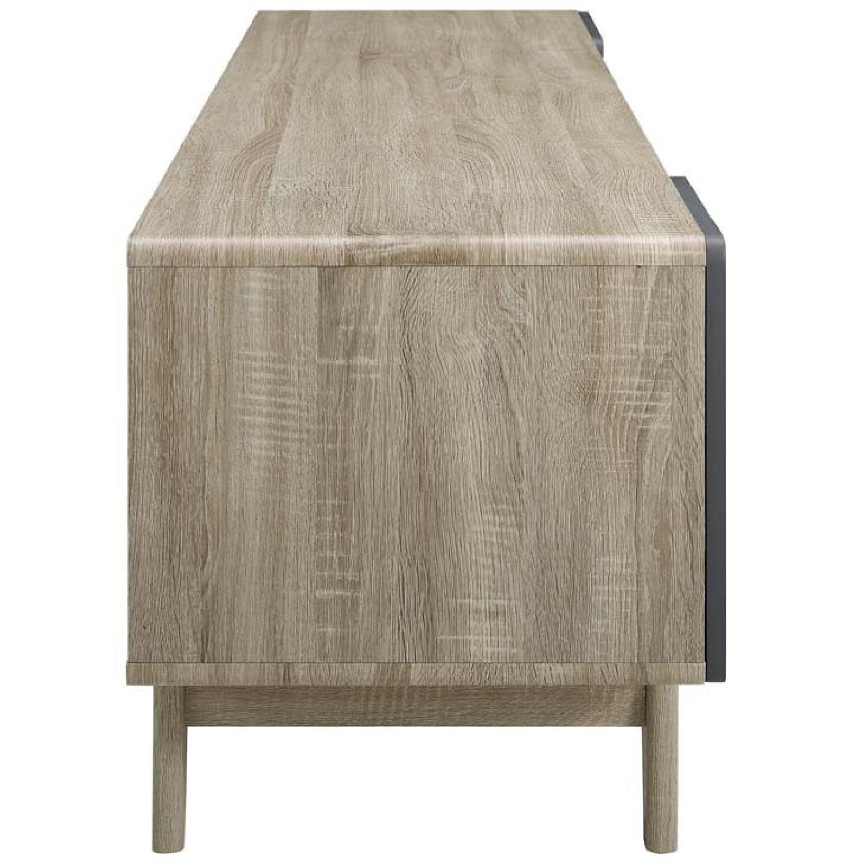 Walnut/Grey TV Stand w/ Storage - image-4
