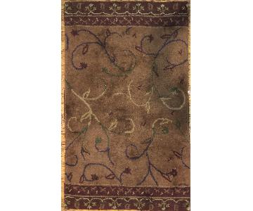 Pottery Barn Rust Burgundy Wool Area Rug